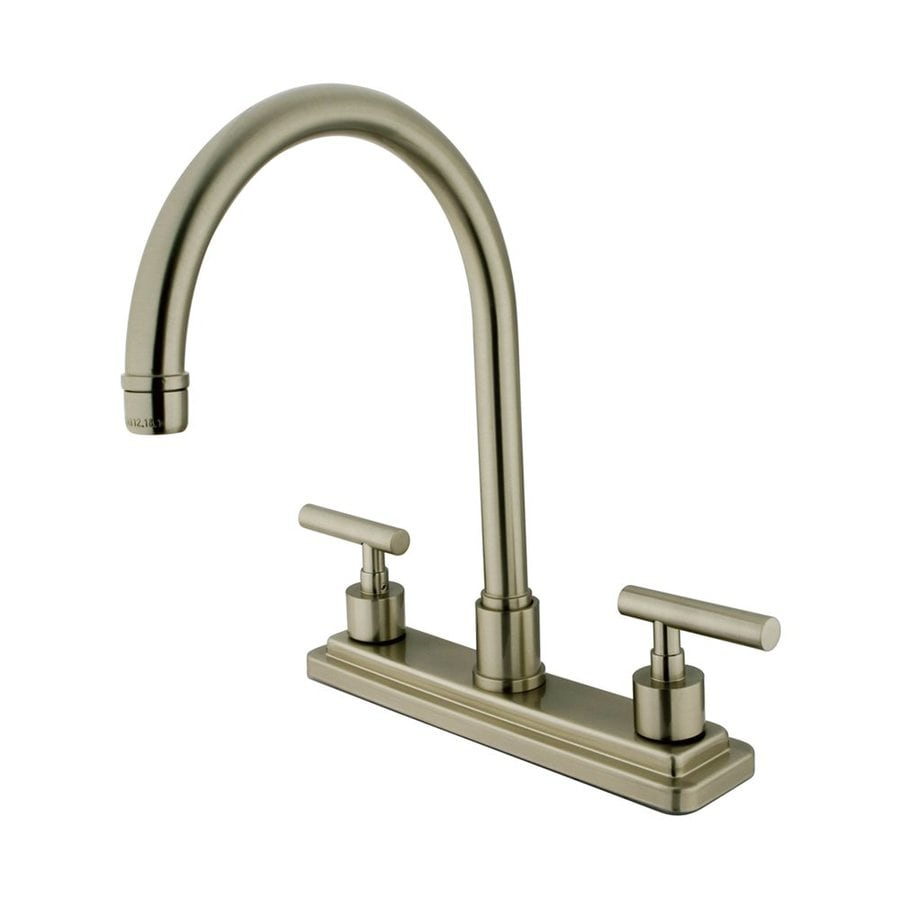 Elements of Design Manhattan Satin Nickel 2-Handle High-Arc Kitchen Faucet