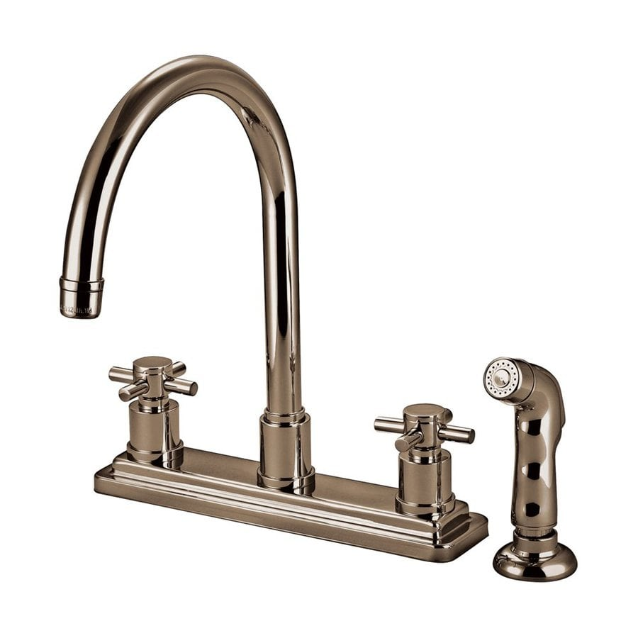 Elements of Design Satin Nickel 2-Handle High-Arc Kitchen Faucet