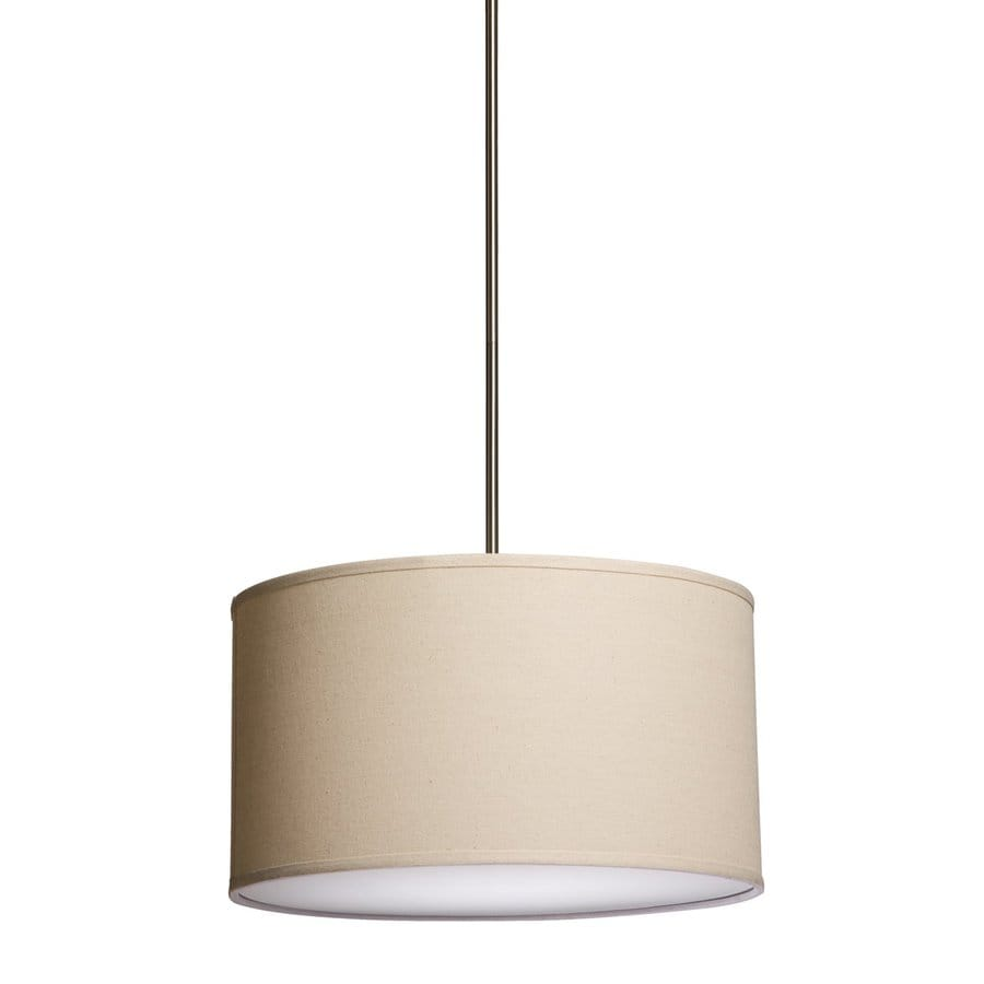 Steven & Chris by Artcraft Mercer Street 25.5-in Oatmeal Single Drum Pendant
