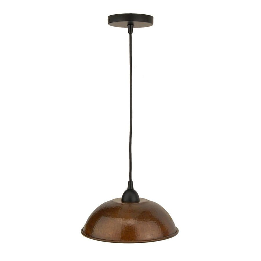 Premier Copper Products 10.5-in Oil-Rubbed Bronze Rustic Single Dome Pendant