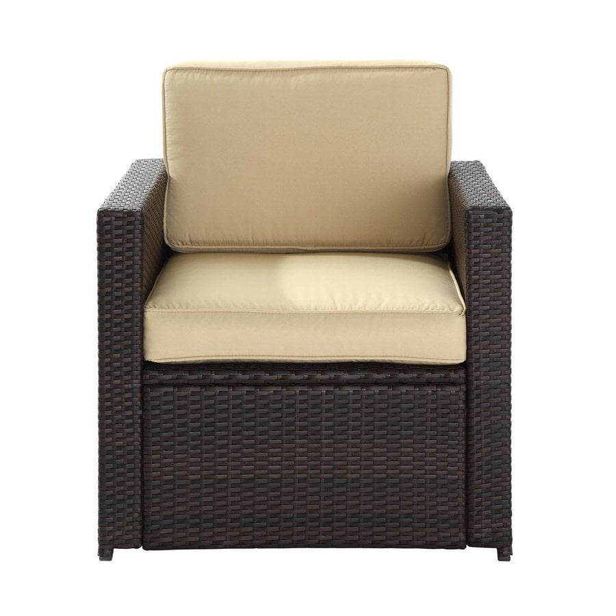 Shop Crosley Furniture Palm Harbor Brown Wicker Patio Conversation Chair At L