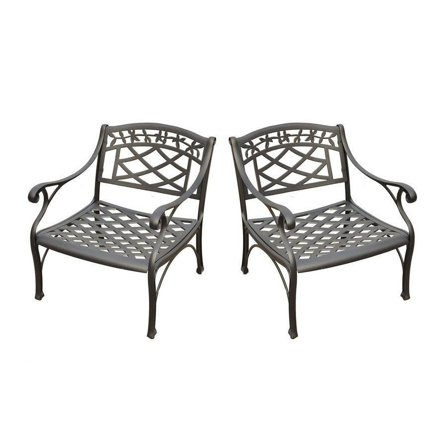 crosley furniture sedona set of 2 aluminum conversation chair with woven at. Black Bedroom Furniture Sets. Home Design Ideas