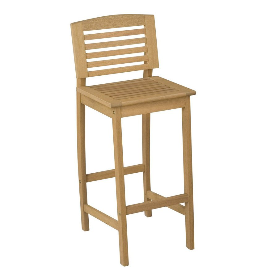 Home Styles Bali Hai Natural Shorea Patio Barstool Chair