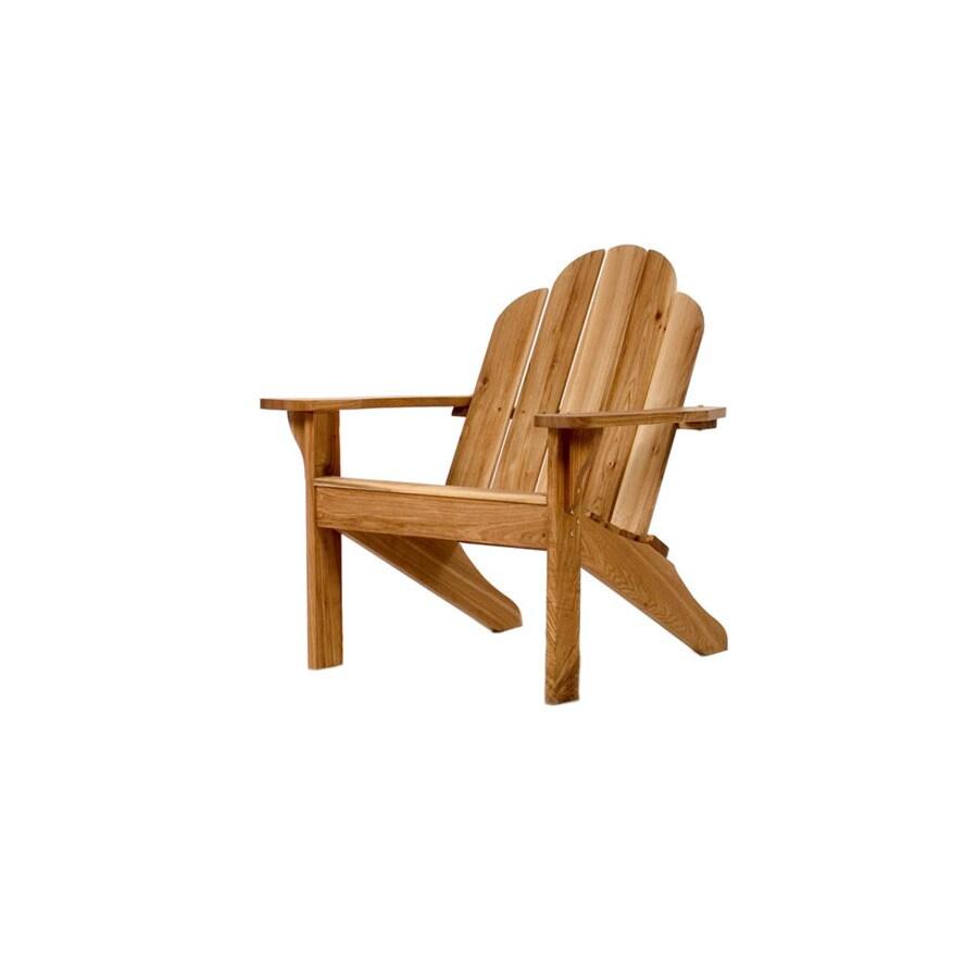 All Things Cedar Oak Wood Adirondack Chair