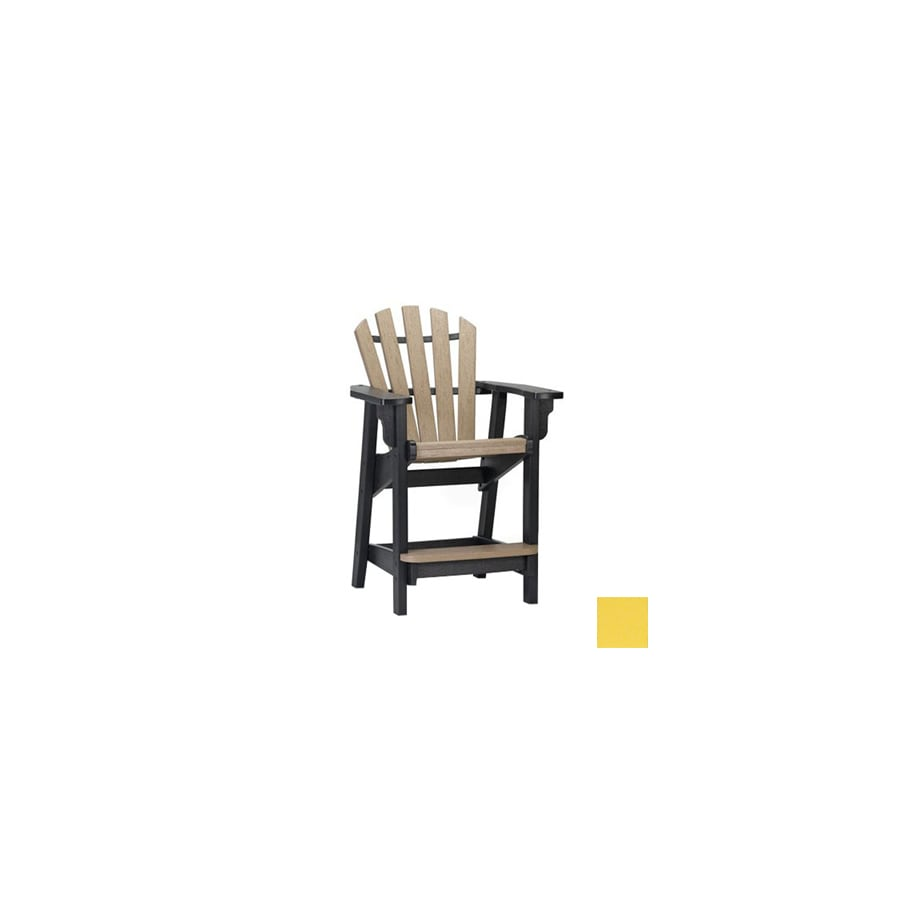 Siesta Furniture Bistro Bright Yellow Plastic Adirondack Chair