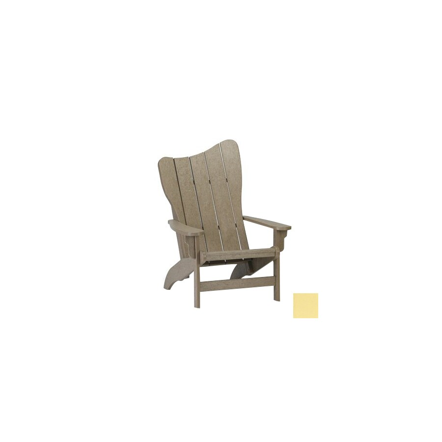 Siesta Furniture Right Wave Light Yellow Plastic Adirondack Chair