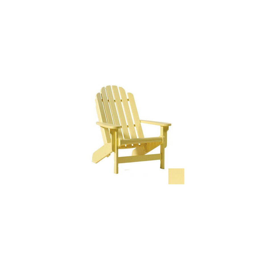 Siesta Furniture Bayfront Light Yellow Plastic Adirondack Chair