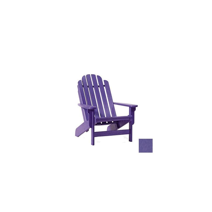 Siesta Furniture Bayfront Purple Plastic Adirondack Chair