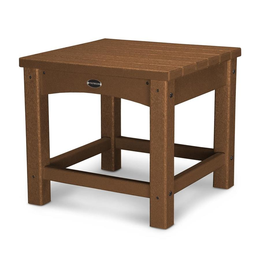 POLYWOOD Club 17.75-in W x 17.75-in L Square Plastic End Table