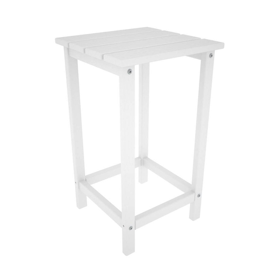 POLYWOOD Long Island 15-in W x 15-in L Square Plastic End Table