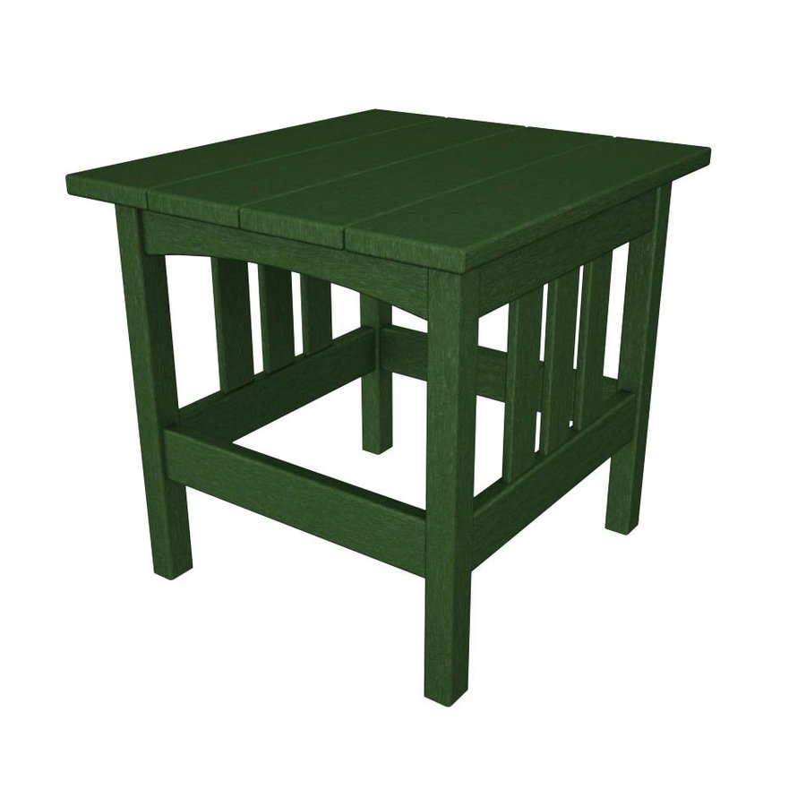POLYWOOD Mission 22-in W x 24-in L Rectangle Plastic End Table