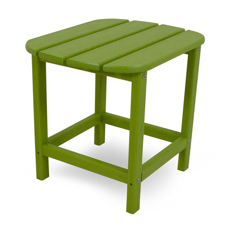 POLYWOOD South Beach 15-in W x 19-in L Oval Plastic End Table
