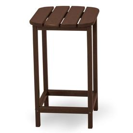 Polywood South Beach 15 In W X 19 L Oval Plastic End Table