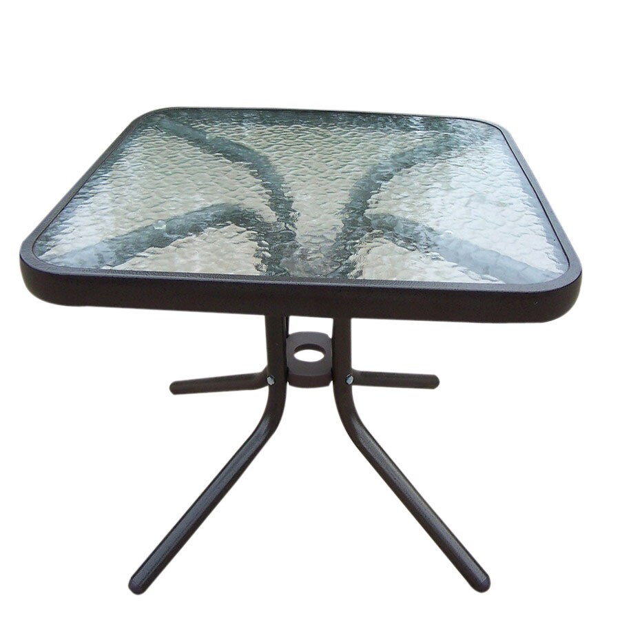 Oakland Living Sling 20-in x 20-in Coffee Cast Aluminum Square Patio End Table