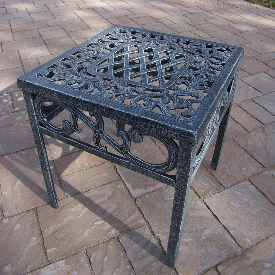 Oakland Living Mississippi 17-in W x 17-in L Square Aluminum End Table