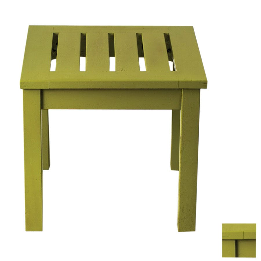 ACHLA Designs 17.5-in x 17.5-in Sweet Pea Wood Square Patio End Table