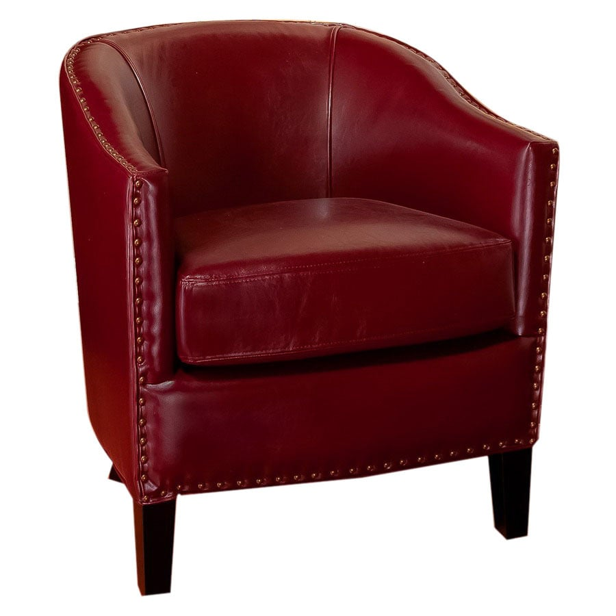Home Decor Austin: Best Selling Home Decor Austin Red Faux Leather Club Chair