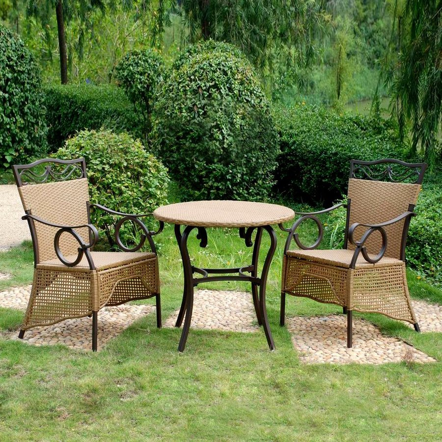International Caravan Valencia 3 Piece Wicker Bistro Patio