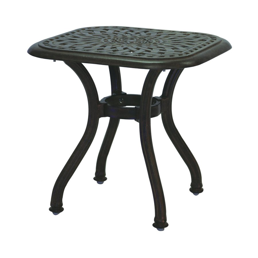 Darlee Series 30 21-in W x 21-in L Square Aluminum End Table