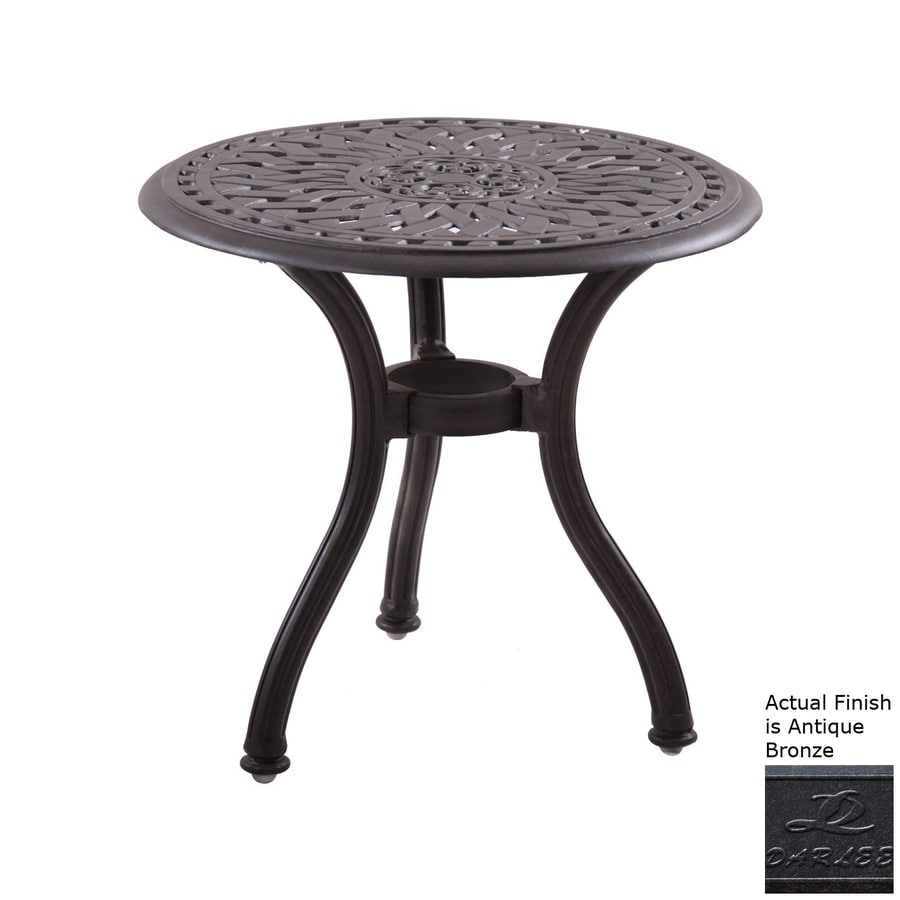 Darlee Series 60 22 In W X L Round Aluminum End Table