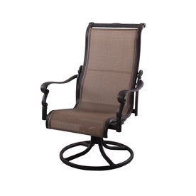 Darlee Monterey Aluminum Dining Swivel Rocker Patio Chair With Mesh Seat