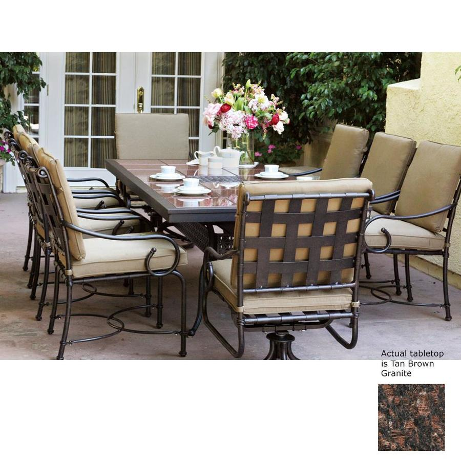 Shop Darlee Malibu Piece Antique Bronze Stone Patio Dining Set - Malibu outdoor furniture