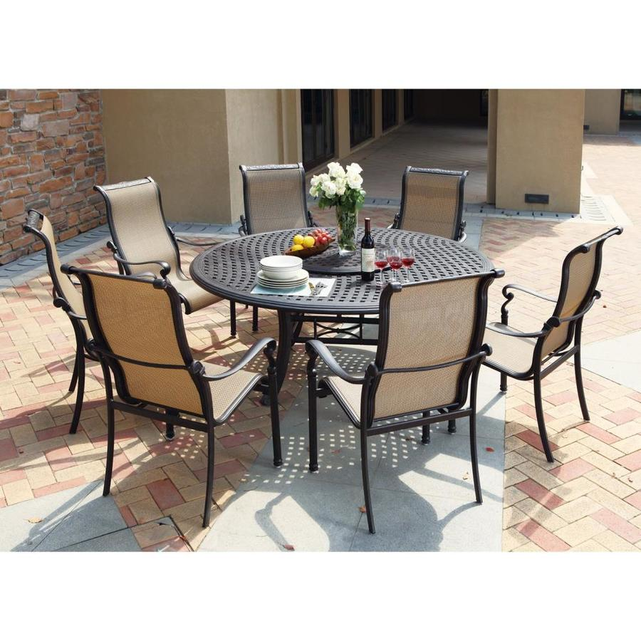 Shop darlee monterey bay 8 piece antique bronze aluminum for Outdoor table set sale