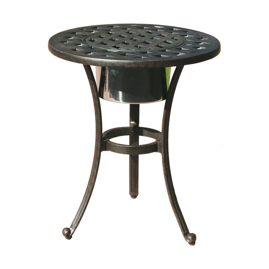 Darlee Series 30 21-in W x 21-in L Round Aluminum End Table