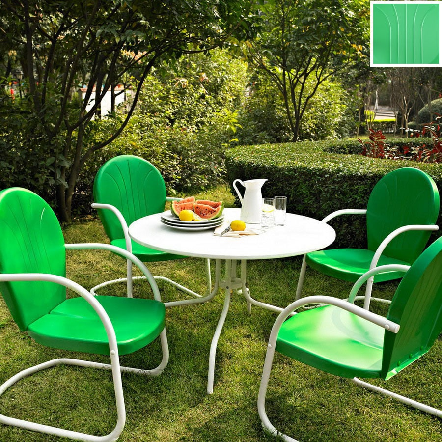 Crosley Furniture Griffith 5-Piece Grasshopper Green Steel Patio Dining Set