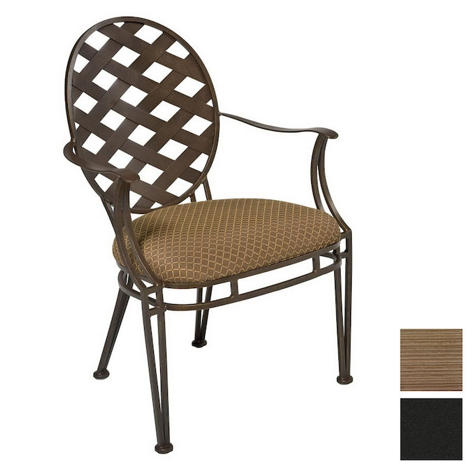 Cascadia Stratton Wrought Iron Patio Dining Chair At Lowes Com