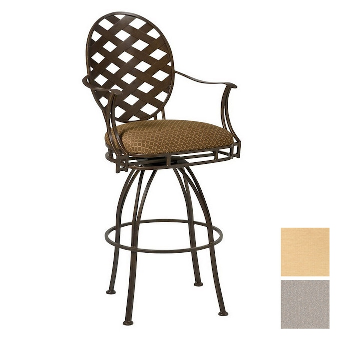 Cascadia Stratton Wrought Iron Swivel Patio Bar Height Chair At Lowes Com