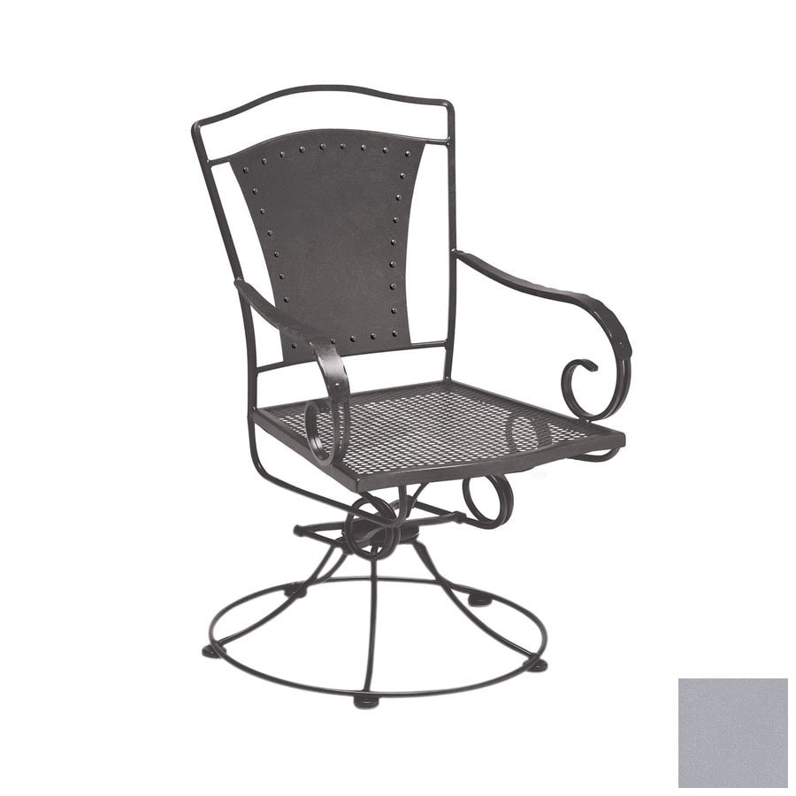 Cascadia Reston Wrought Iron Swivel Rocker Patio Dining Chair At