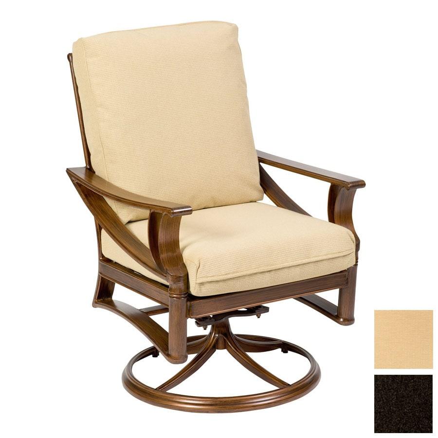 Cascadia Arkadia Cast Aluminum Swivel Rocker Patio Dining Chair At Lowes Com