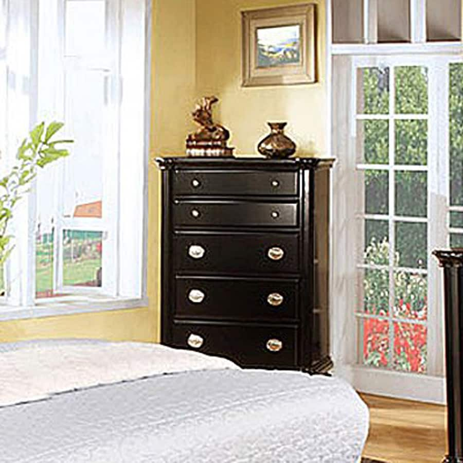 Furniture of America Laguna Hills Black 5-Drawer Dresser