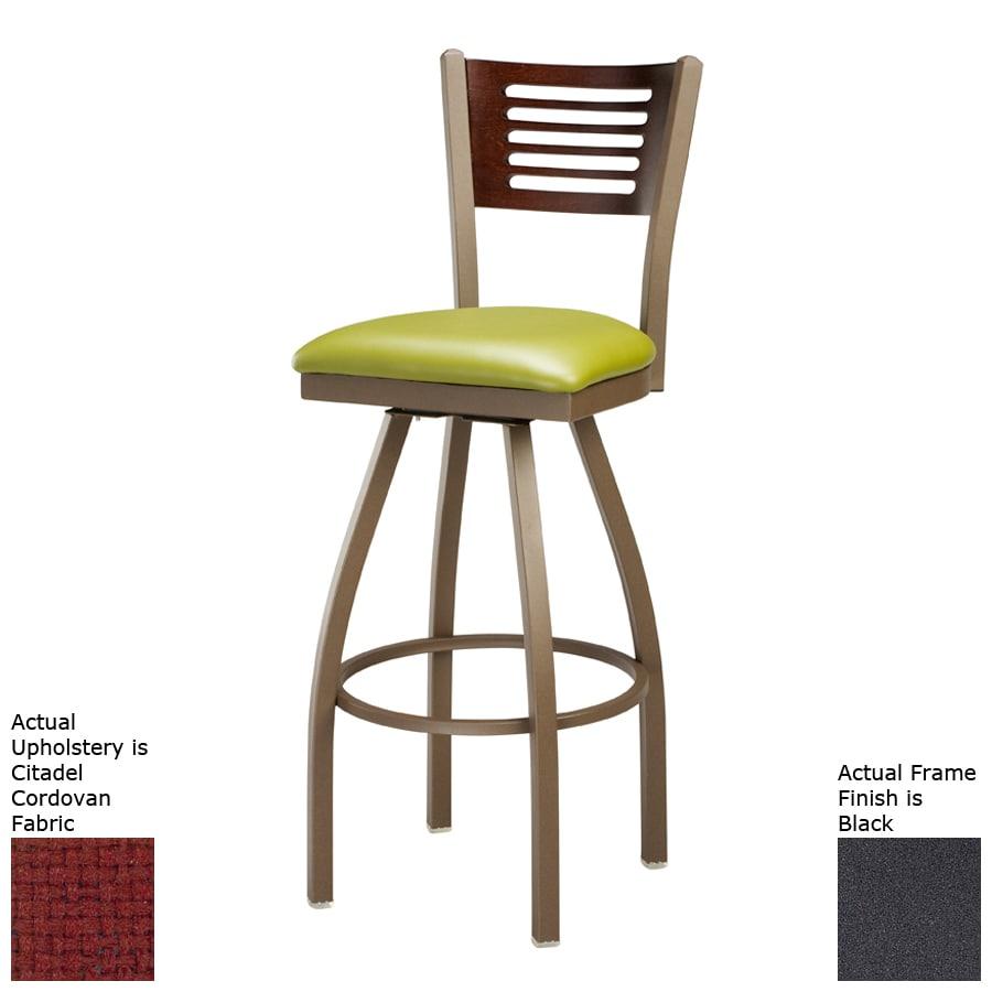 Regal Seating Steel Black/Cherry Bar Stool