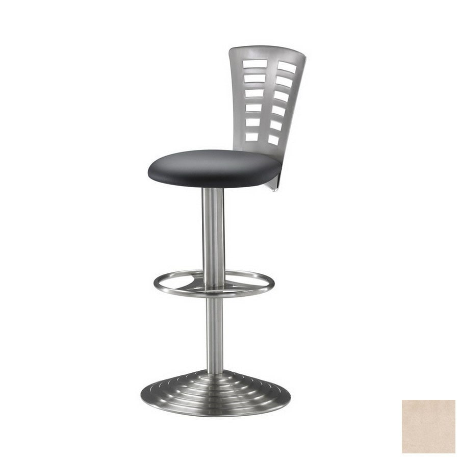 Trica Predio Brushed Steel 32.5-in Adjustable Stool