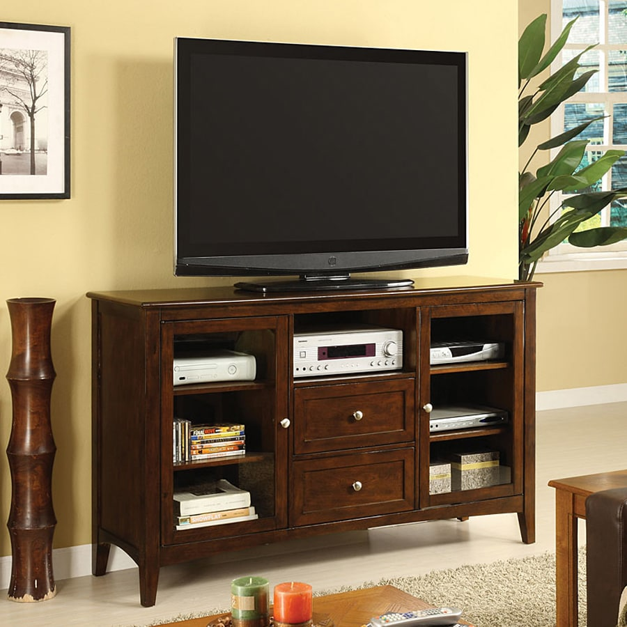 Furniture of America Lancaster Dark Walnut TV Cabinet