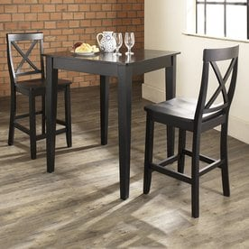 Crosley Furniture Dining Set With Square Counter Table And Stools