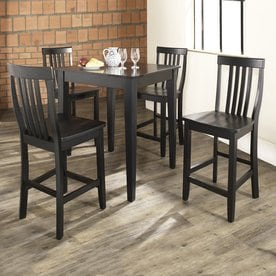 Crosley Furniture Black Dining Set With Counter Height Table
