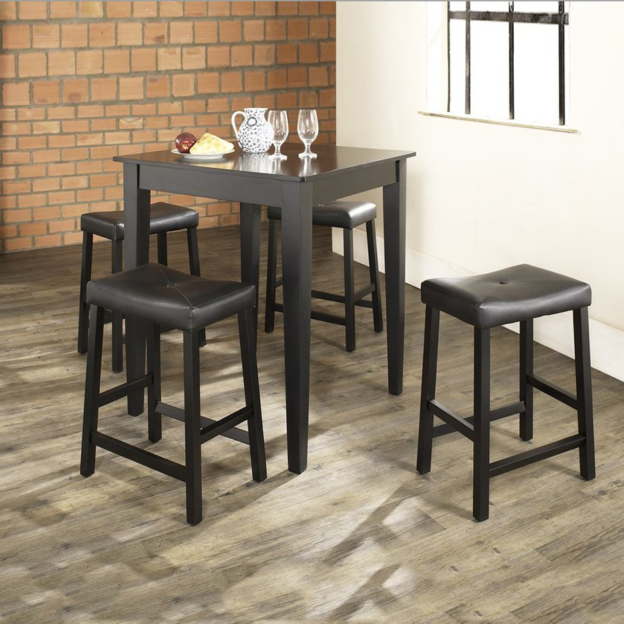 Shop Crosley Furniture Black Dining Set With Counter