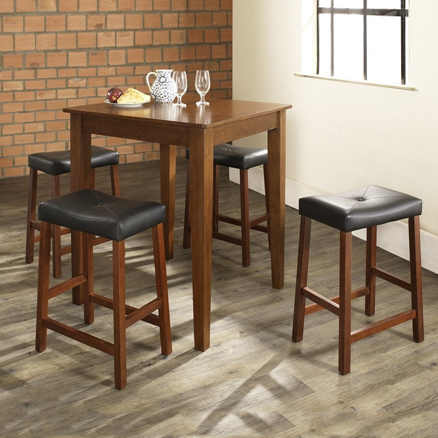 Crosley Furniture Classic Cherry 5-Piece Dining Set with Counter Height Table