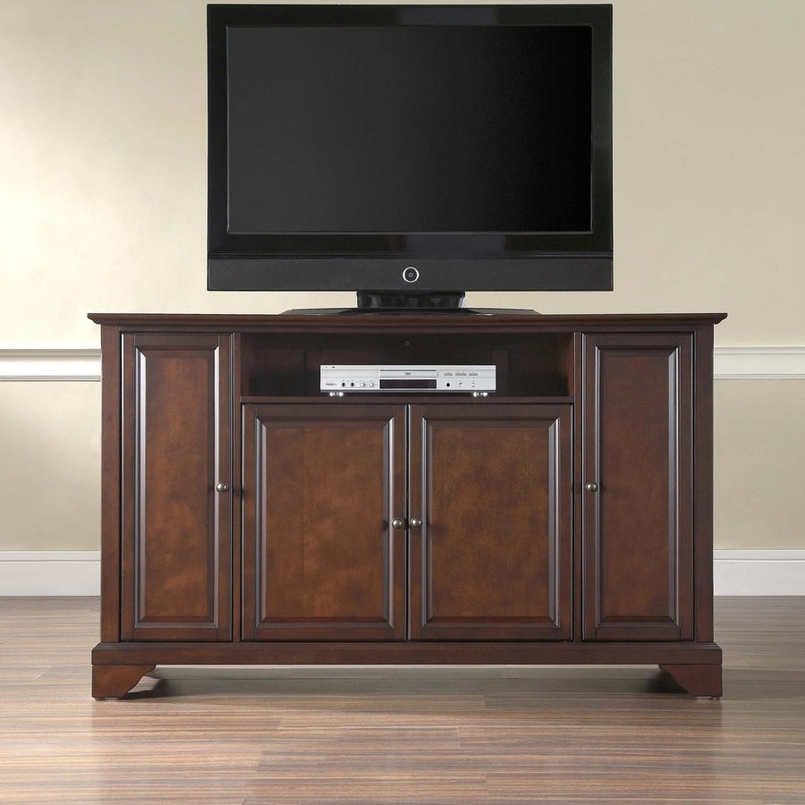 Crosley Furniture Lafayette Vintage Mahogany Rectangular TV Cabinet
