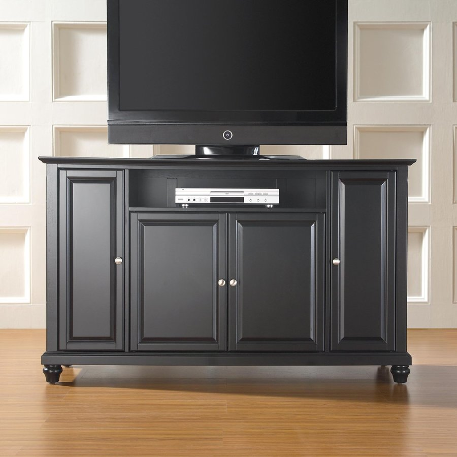 Crosley Furniture Cambridge Black Rectangular TV Cabinet