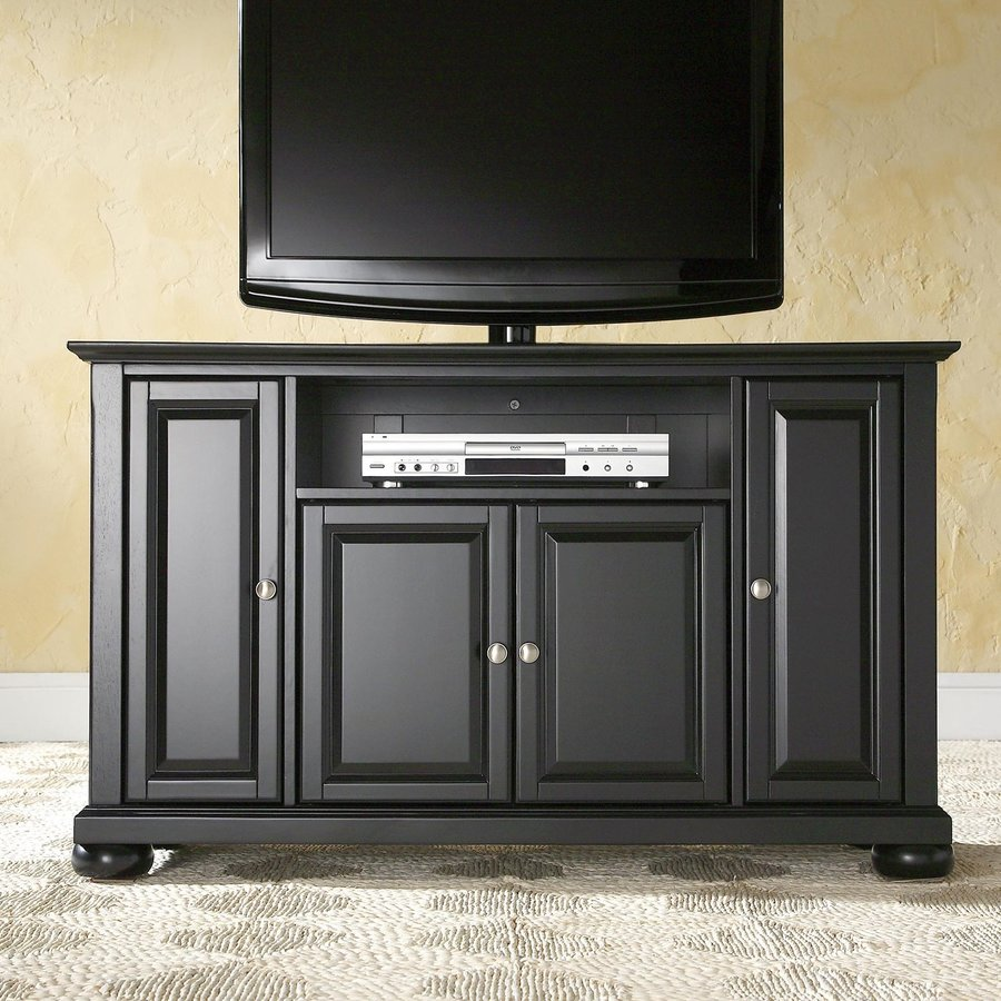 Crosley Furniture Alexandria Black Rectangular TV Cabinet