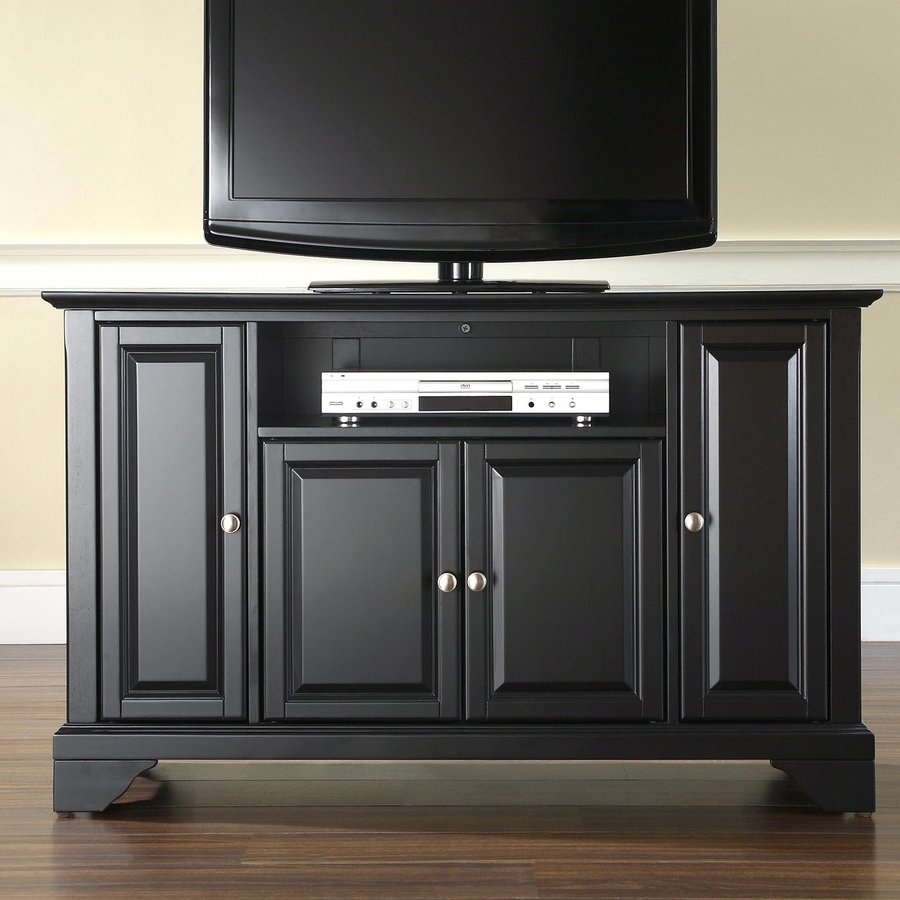 Crosley Furniture Lafayette Black Rectangular TV Cabinet