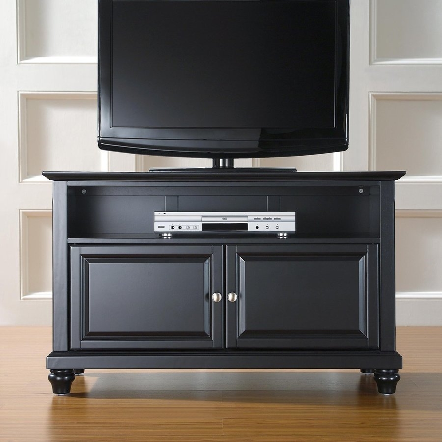 crosley furniture cambridge black tv cabinet