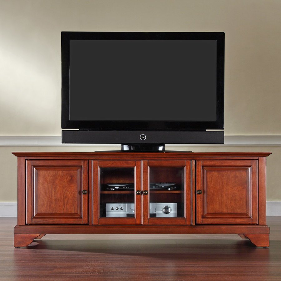 Crosley Furniture Lafayette Classic Cherry Rectangular TV Cabinet
