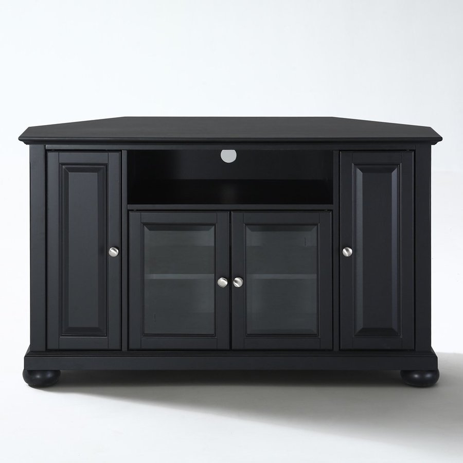 shop crosley furniture alexandria black corner tv stand at. Black Bedroom Furniture Sets. Home Design Ideas
