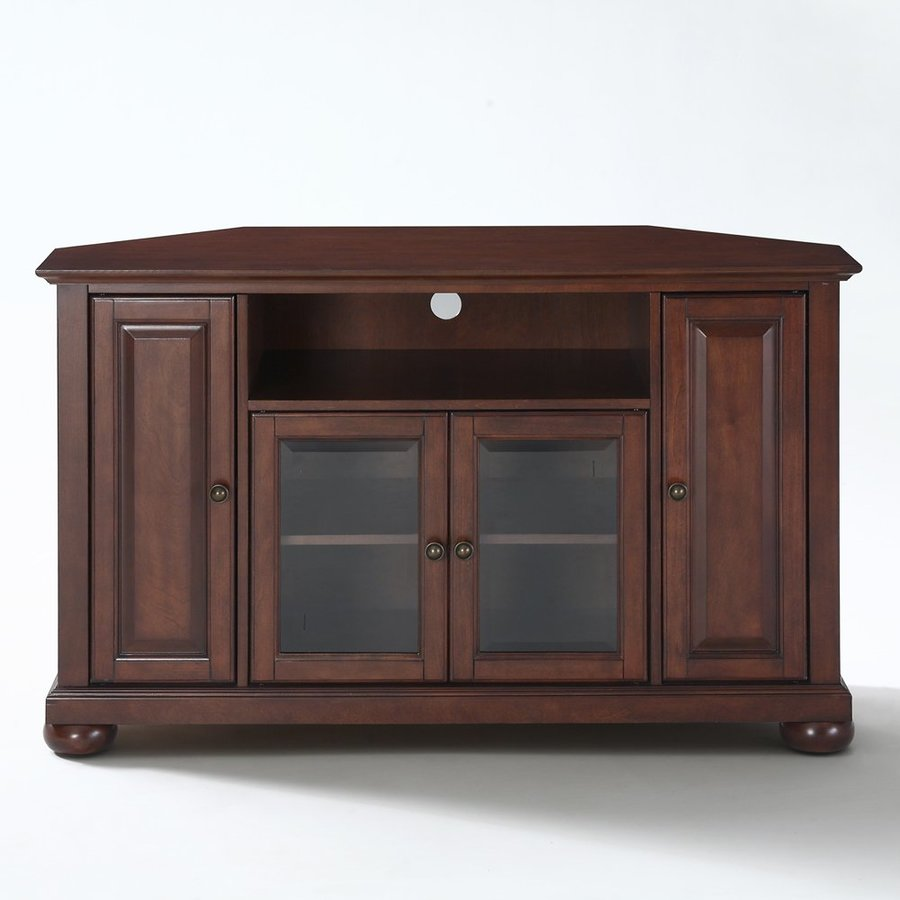 Crosley Furniture Alexandria Vintage Mahogany Corner TV Stand