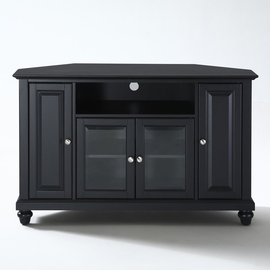 Crosley Furniture Cambridge Black Corner TV Stand